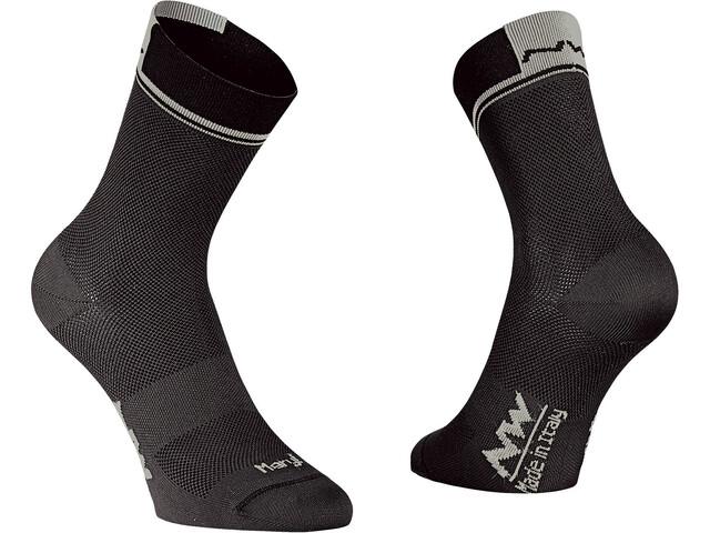 Northwave Logo 2 High Socks black/grey